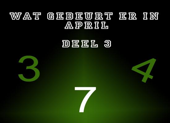 Deel 3, van de April codes. : - )