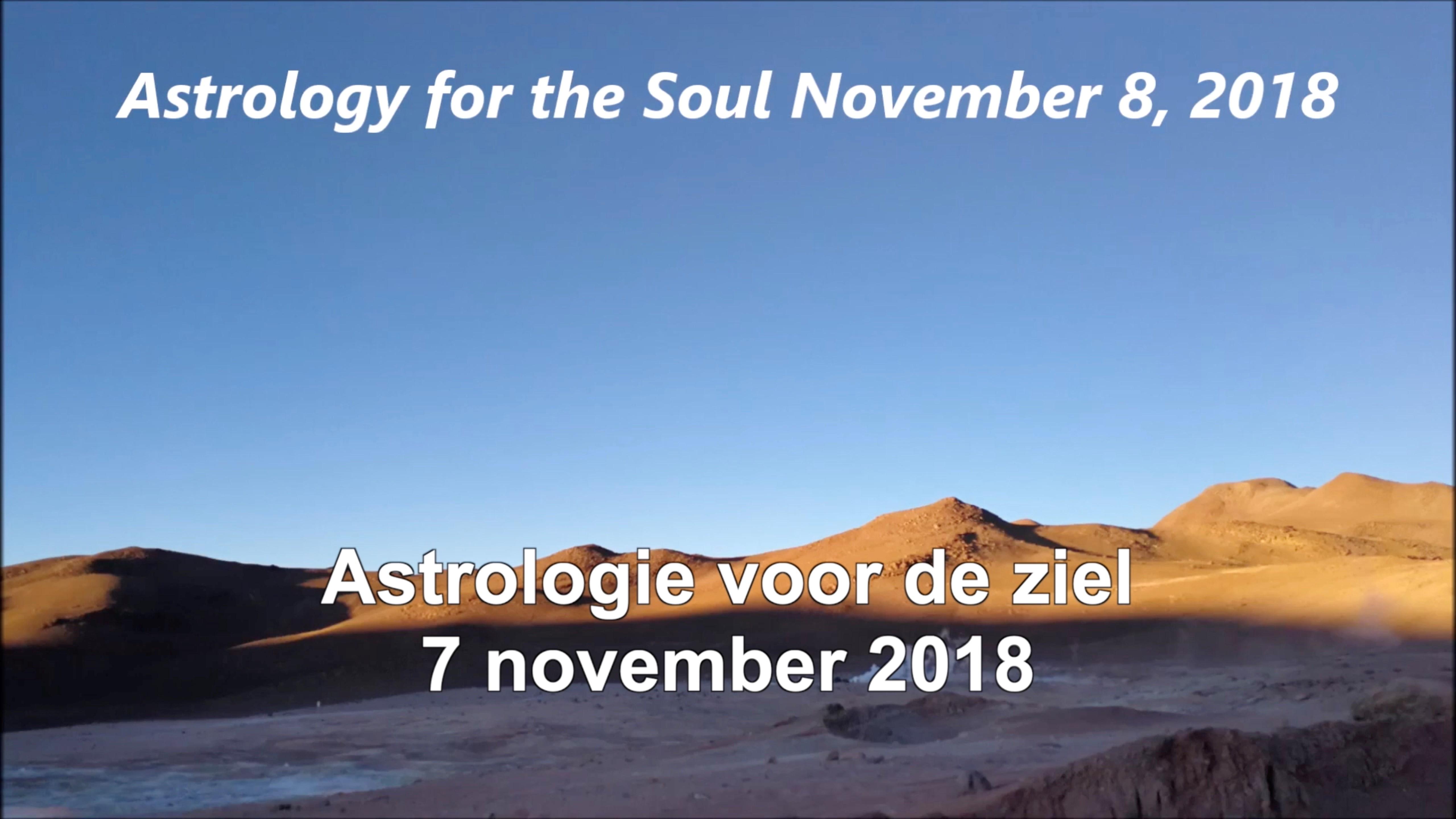Astrologie voor de ziel 7 november